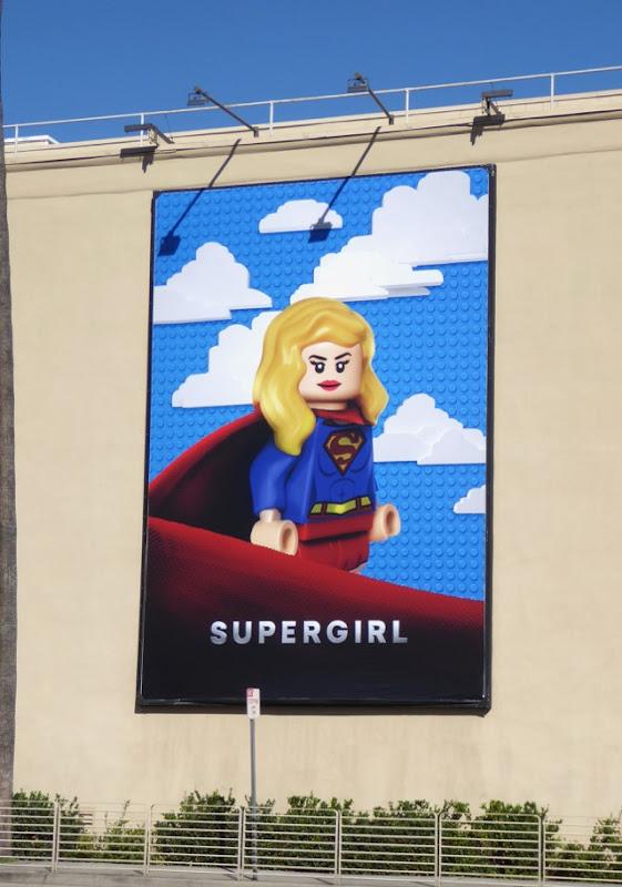Supergirl Lego billboard WB Studios