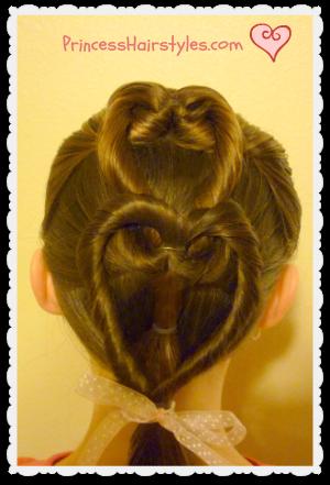 heart french braid - valentine's