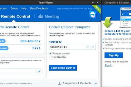 Cara Install TeamViewer 10 di Ubuntu dan Linux Mint