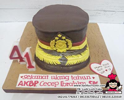 Birthday Cake Bentuk Topi Polisi