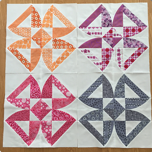 Twisted Blossom Quilt Free Tutorial