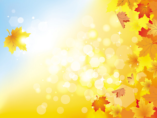 Beautiful Autumn Background  Vector Free Vector
