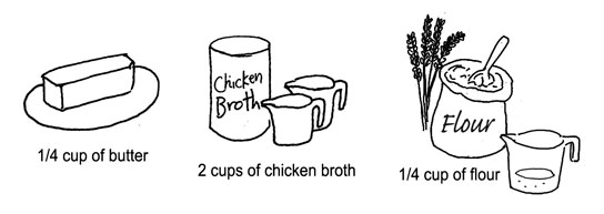 gravy ingredients by Yukié Matsushita
