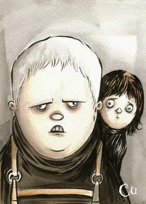 10-Game-of-Thrones-Hodo-and-Bran-Chris-Uminga-Game-of-Thrones-Watercolours-www-designstack-co