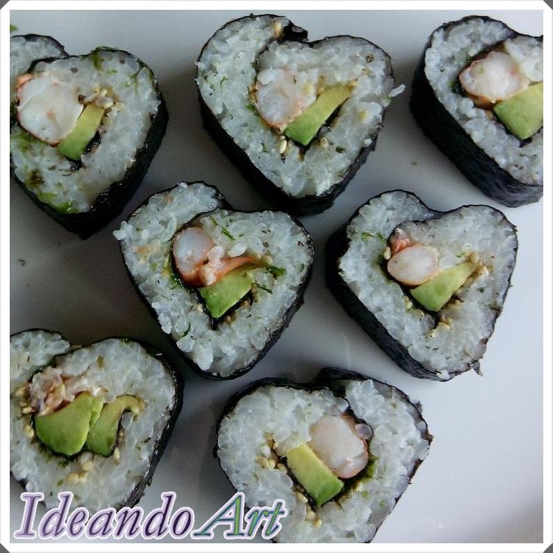 Sushi corazones