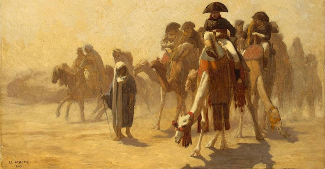Napoleon Bonaparte y camellos