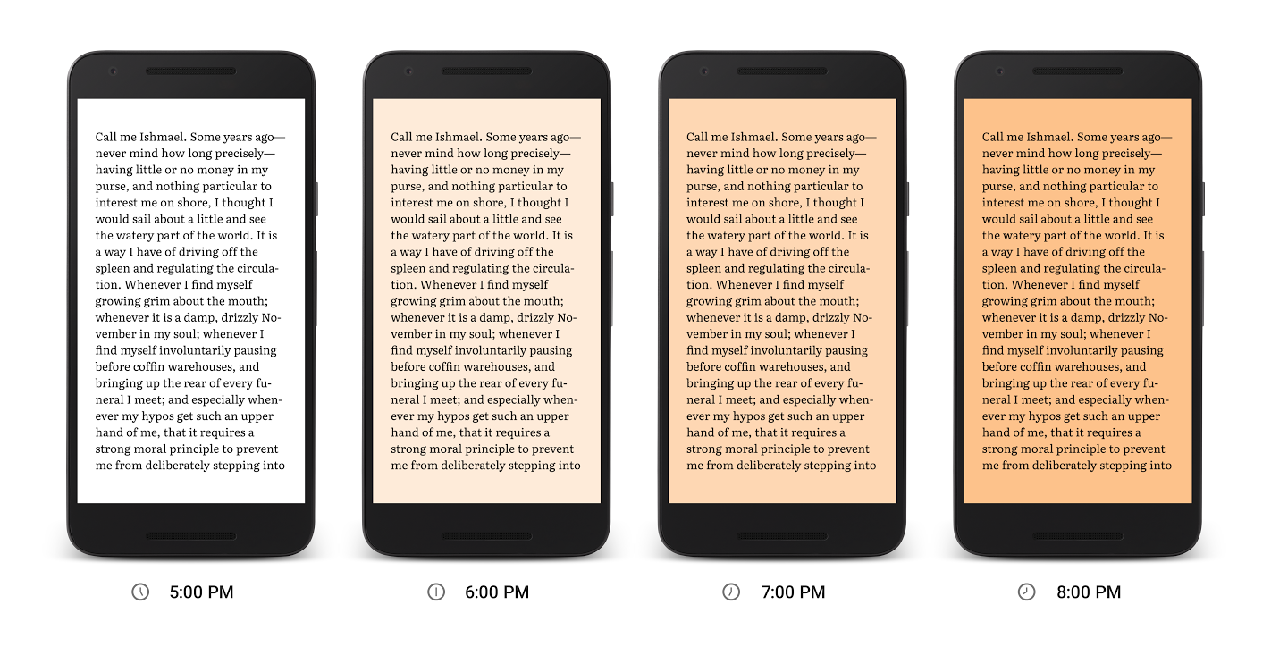 "[APK] Google Play Books Update Brings ""Night Light"" That Makes Makes Nighttime Reading Easier on the Eyes"