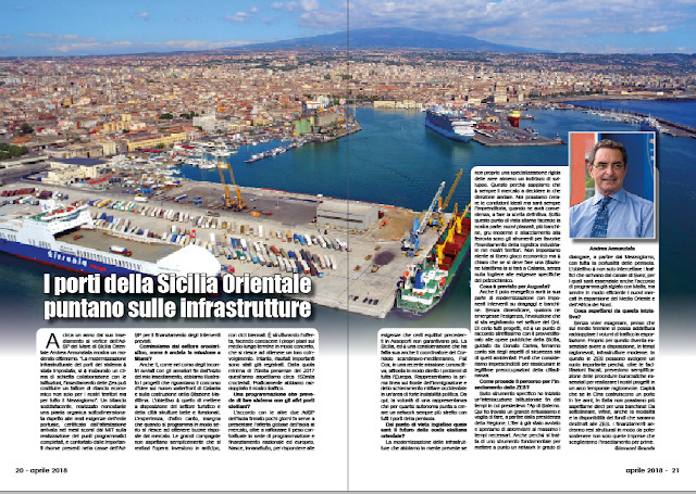 APRILE 2018 PAG. 20 - I porti della Sicilia Orientale puntano sulle infrastrutture