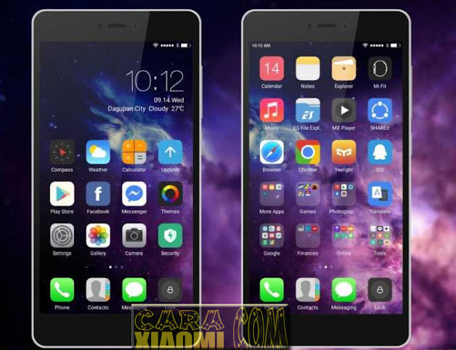 MIUI Theme IOS After Dark Mtz [IOS 10 After Dark Mode] [Update] For Xiaomi