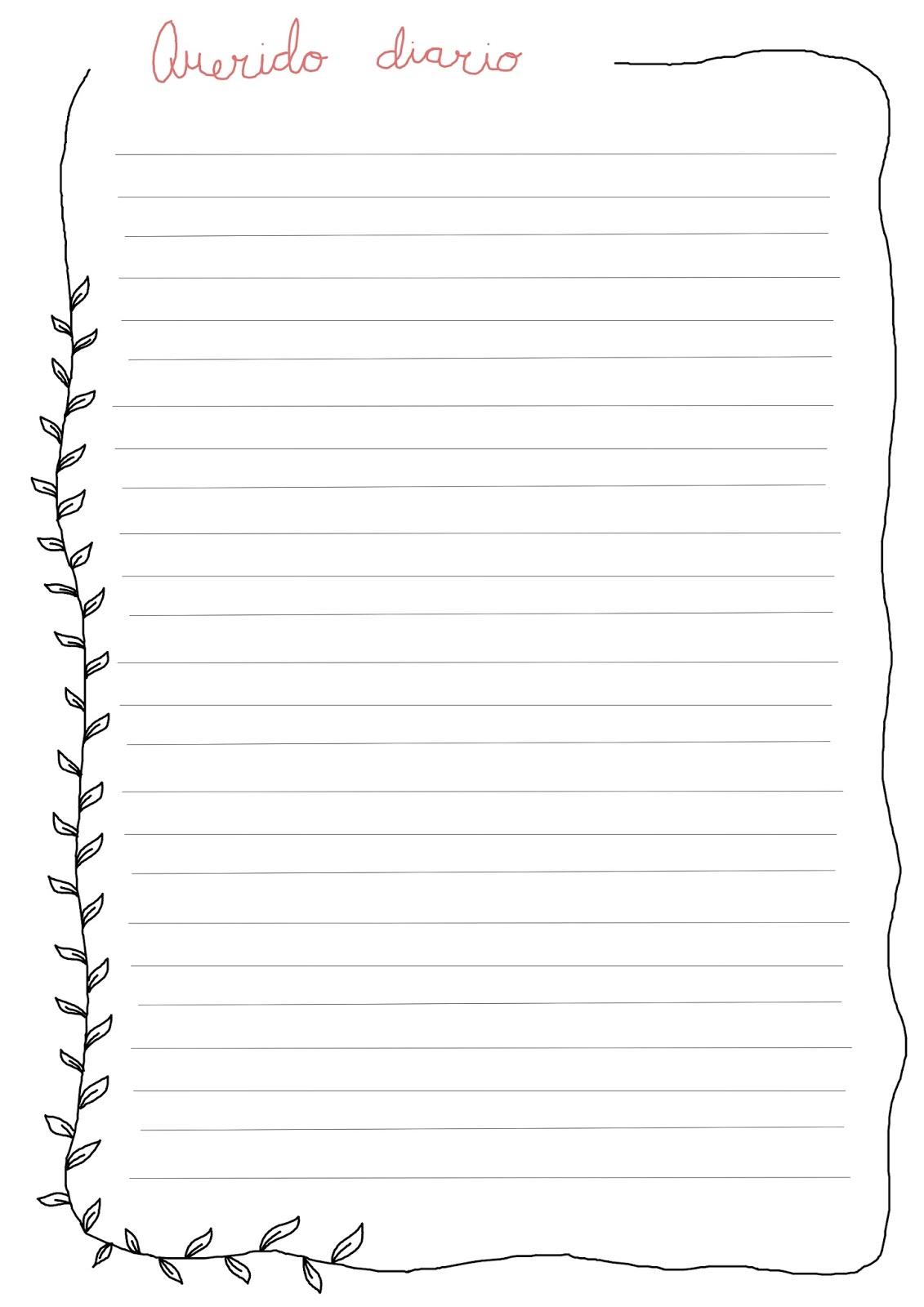 Fantástico Escribiendo La Plantilla Del Diario Ilustración - Ejemplo ...