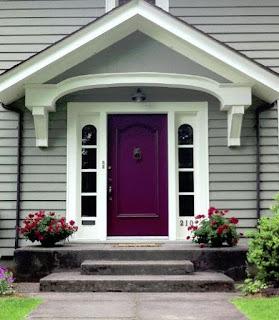 contoh warna cat rumah bagian depan