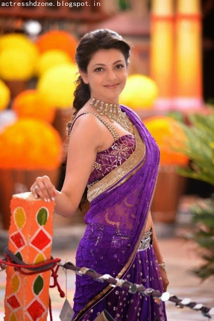 Kajal agarwal in Half saree