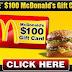 Get a $100 McDonald's Gift Card