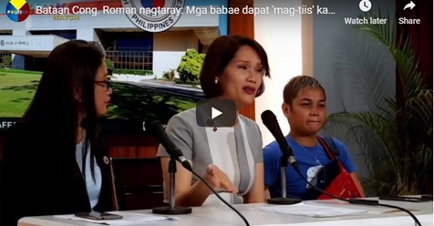 Bataan Cong. Roman tells women to endure (magtiis) sharing ladies toilet with a transgender even if they feel offended | PTN