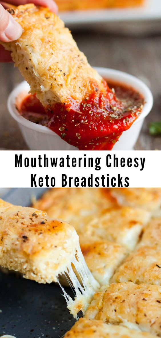 Mouthwatering Cheesy Keto Breadsticks