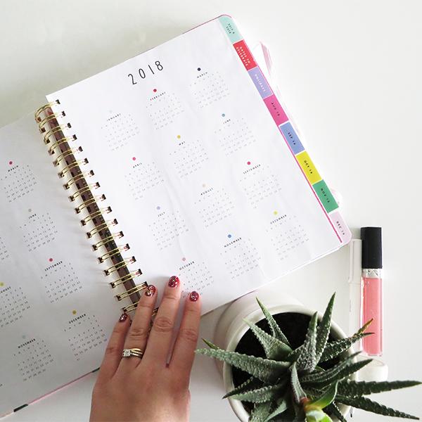 At-a-glance calendar pages #omgbandoagenda