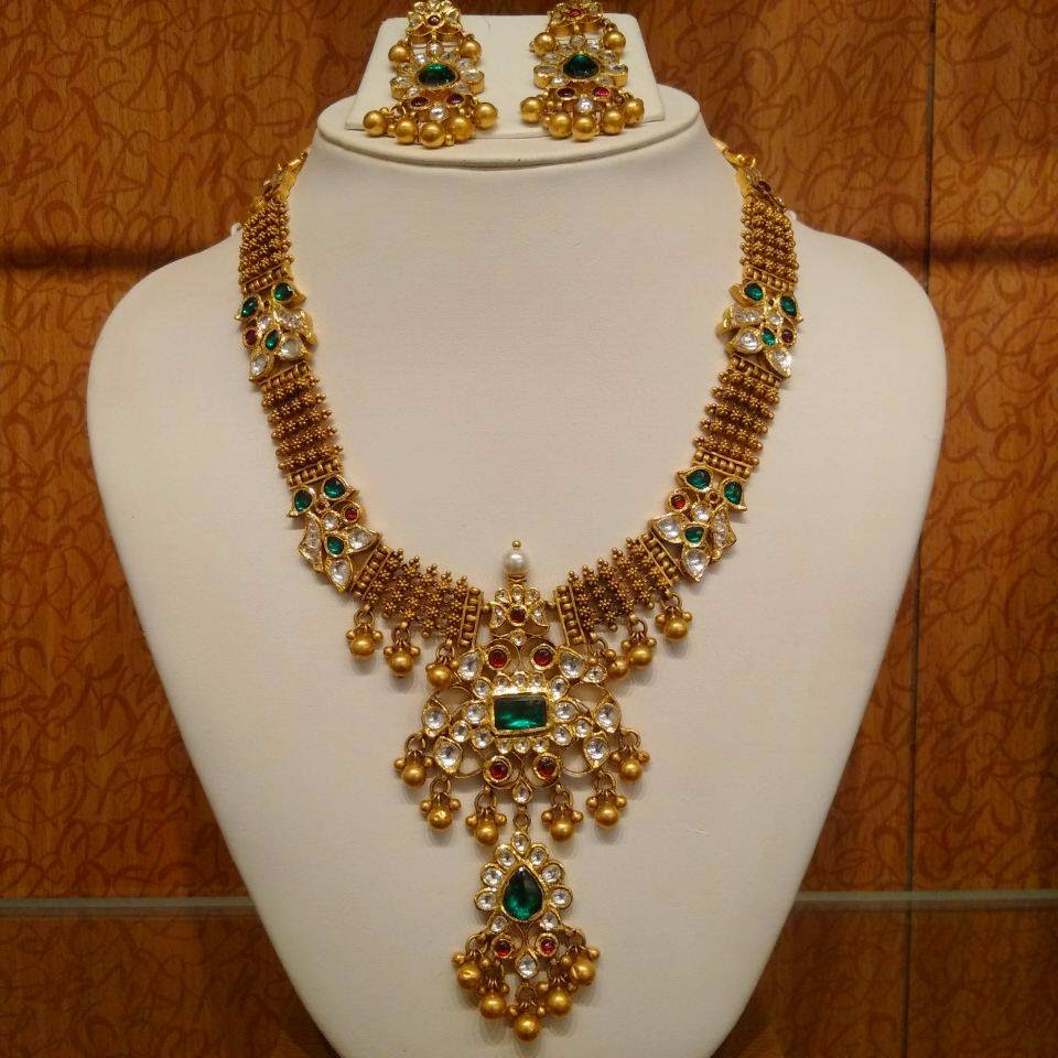 Kundan Necklace Archives Page 5 of 5 22kGoldDesigns