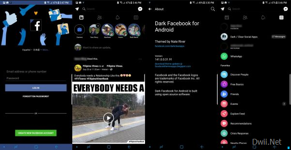 download facebook black apk