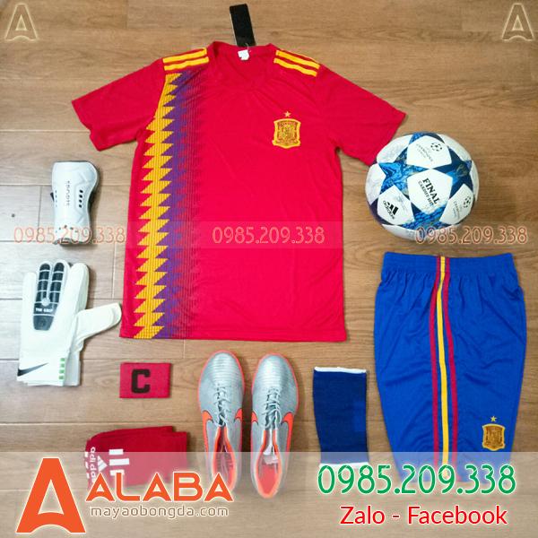 Ngó nghiêng màu áo đội tuyển Tây Ban Nha mùa giải 2018-2019