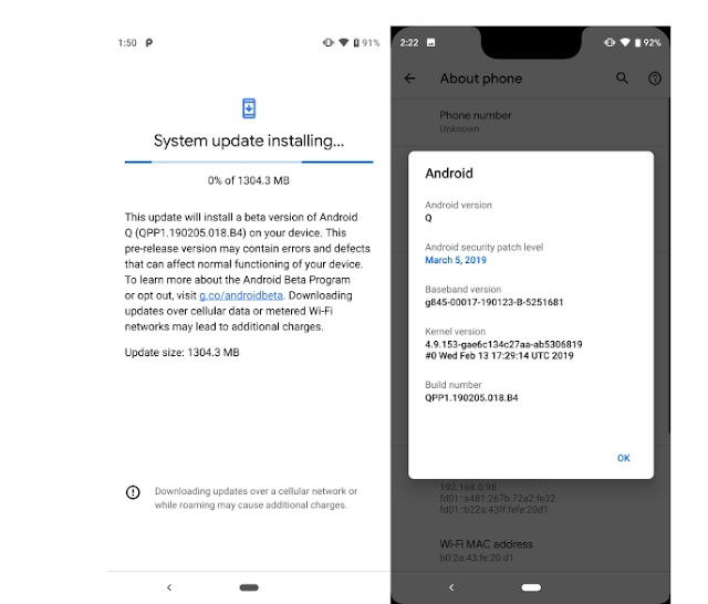 Android Q Beta 1