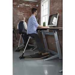 Safco Focal Locus perch stool with anti fatigue mat