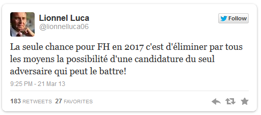 Tweet de Lionnel Luca