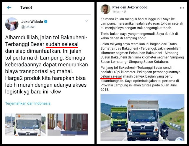 Jokowi VS Admin, Mana Yang Jujur?