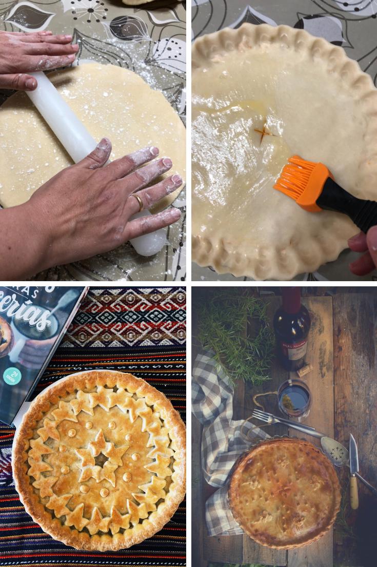 Preparación de Empanada fácil de pavo