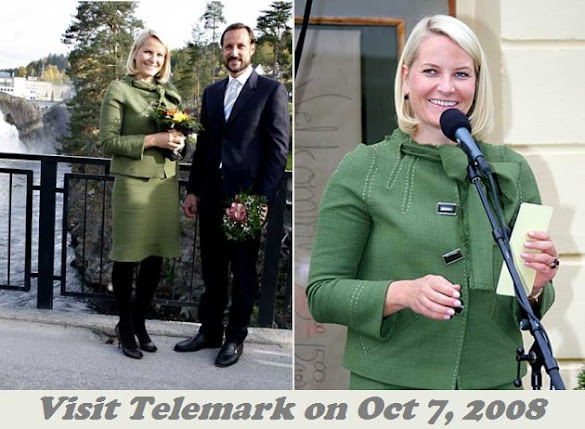 Crown Princess Mette Marit wore Christian Louboutin pumps