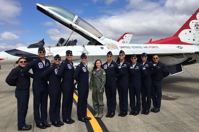 YOUNGEST PRIVATE PILOT FLIES WITH THUNDERBIRDS DURING AIR TATTOO