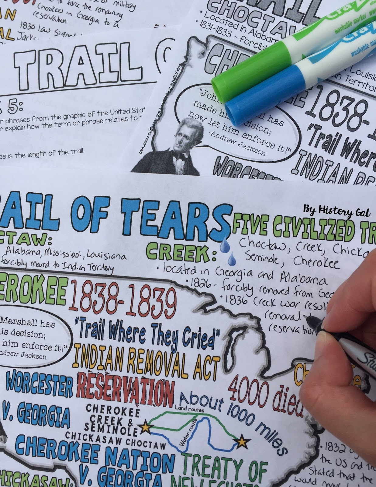 An engaging way to teach the Trail of Tears by History Gal