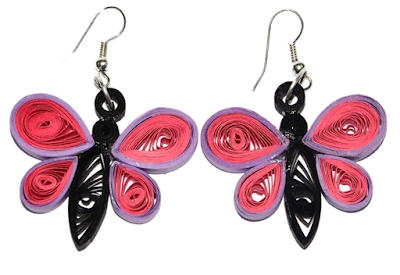 Rose colour butterfly quilling desings for kids 2015 - quillingpaperdesings