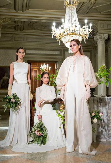 atelier couture, desfile, novias, pasarela, diseño español, lujo, glamour, boda