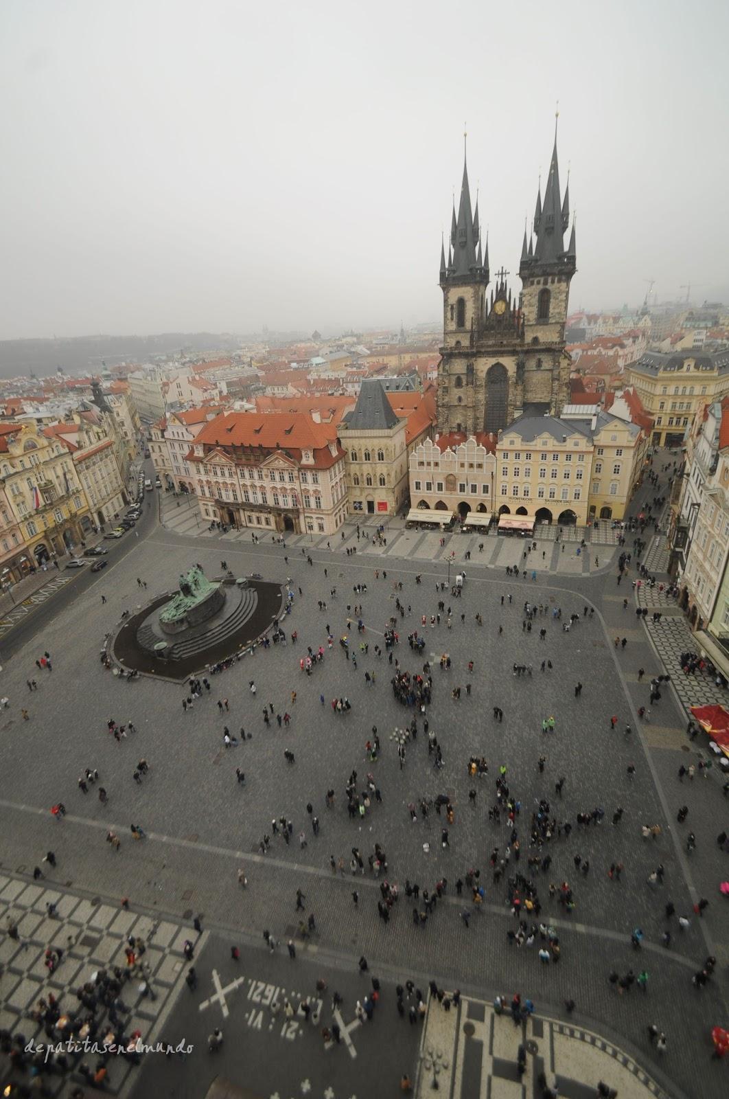 Vistas desde Torre del Ayuntamiento de Praga