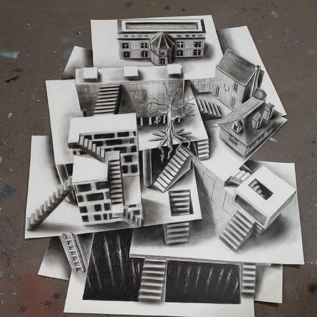 11-Architecture-on-Different-Levels-Ramon-Bruin-Optical-Illusions-in-3D-Drawings-www-designstack-co