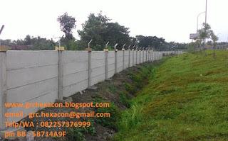 pagar panel precast jalan tol