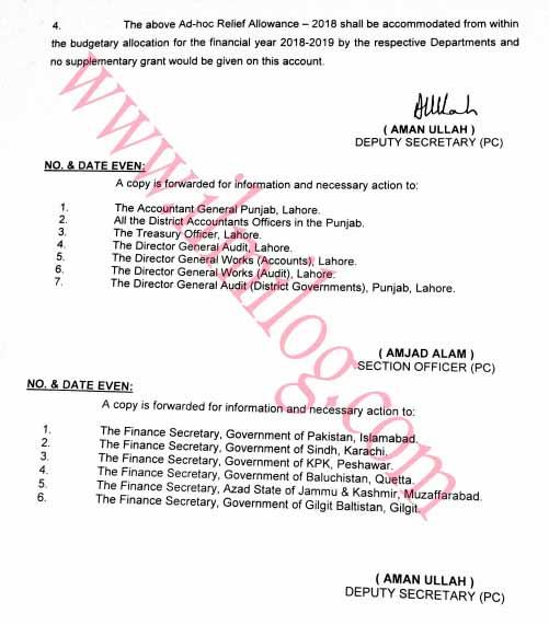Punjab Employees Notification ARA 2018
