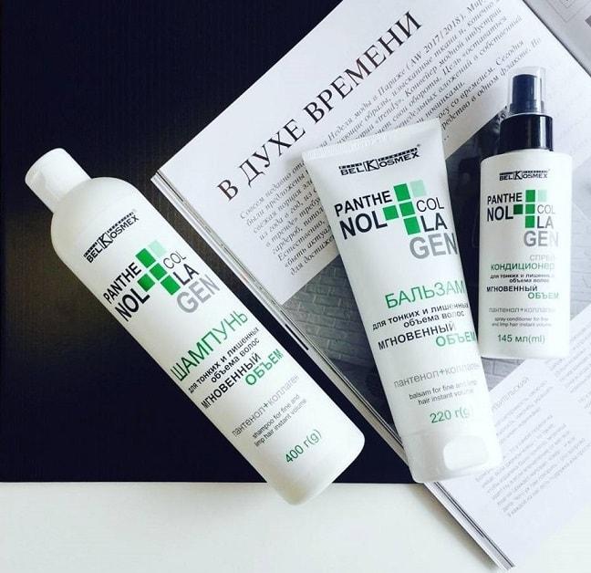 Белкосмекс. Линия для волос Panthenol+Collagen