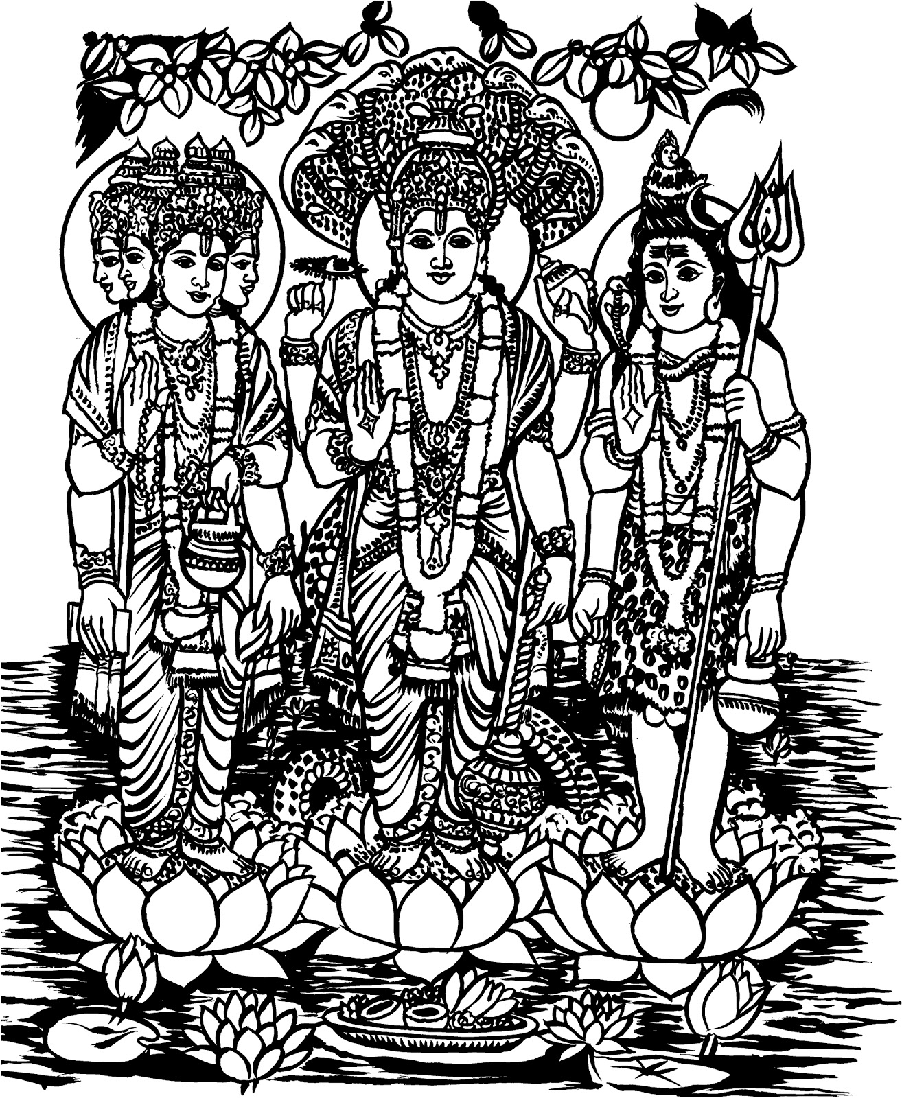 ALL-IN-ONE WALLPAPERS: Pencil Drawings Hindu Gods Wallpapers