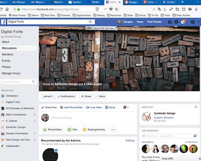 Digital Fonts Group on Facebook