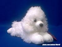 White Poodle Plush Stuffed Animal Toy