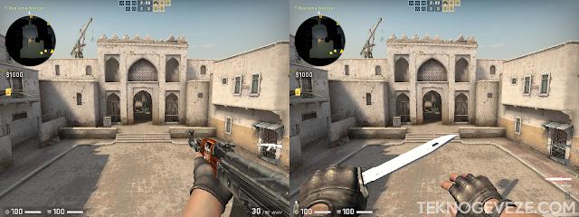 CS GO Silahı Sağa Bıçağı Sola Alma Komutu