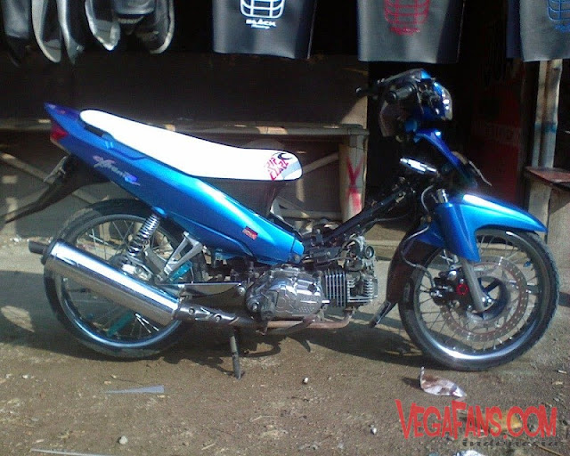 Modifikasi Vega R New Biru Modif Simple Tromol Ninja