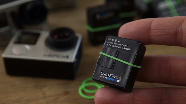 DIY GoPro Battery Bands! Quick Tip