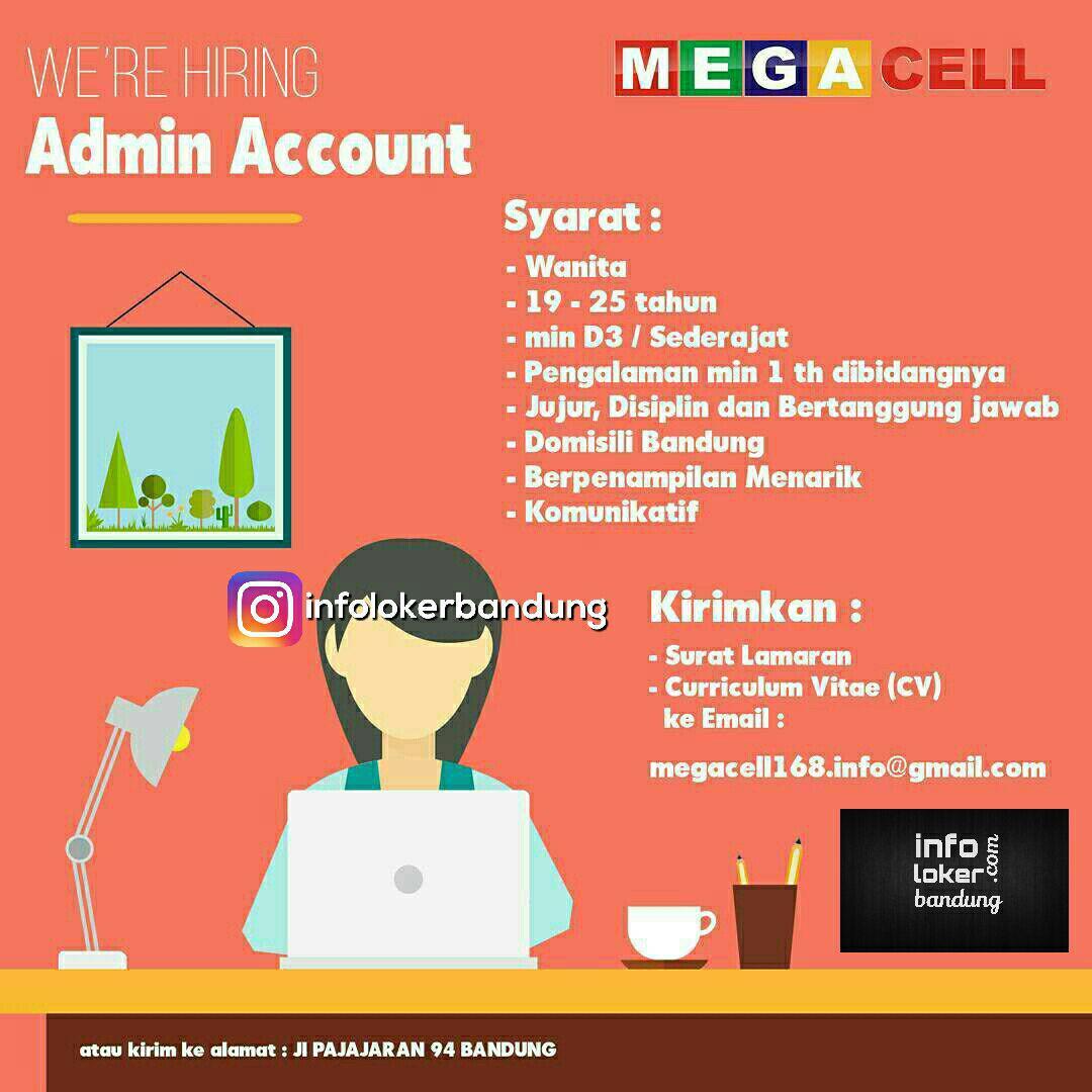 Lowongan Kerja Admin Mega Cell Bandung Mei 2017