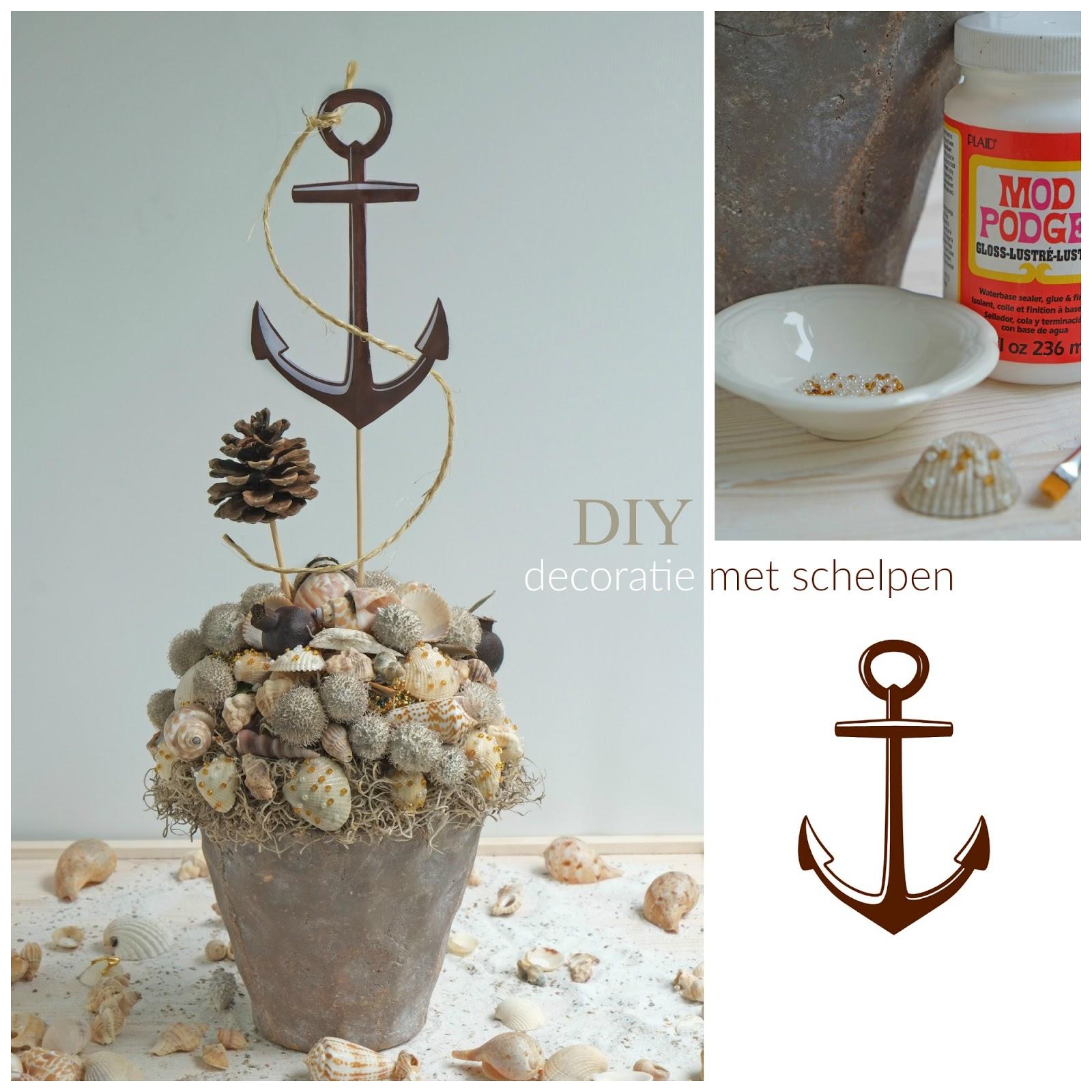 Mooie decoratie met schelpen diy interieur idee n for Decoratie zomer