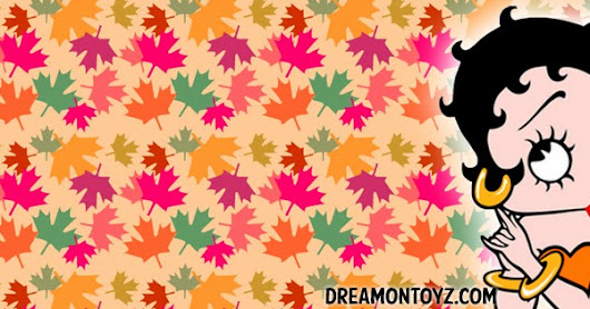 Betty Boop Fall Leaves Facebook Timeline Cover and Banner