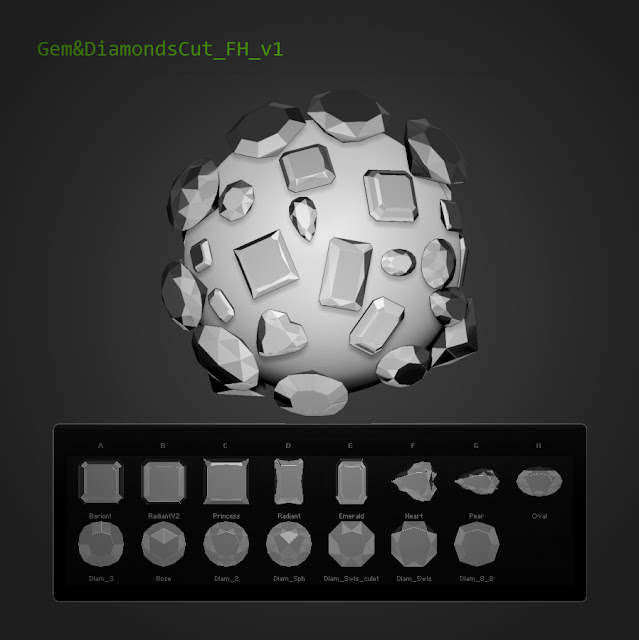 15 tallas Gem&DiamondsCut Fran Hazard v1 Zbrush 4R5