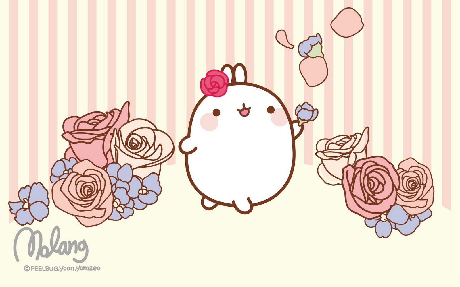 Cute Wallpapers For Iphone 5s Molang Wallpapers Reino Kawaii
