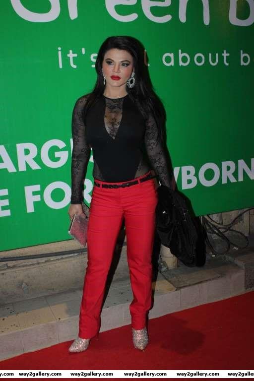 Rakhi Sawant was among the TV celebrities at Meet Brothers success bash